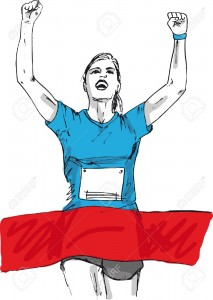 13624603-sketch-of-woman-reaching-the-finish-line-in-a-running-event-vector-illustration