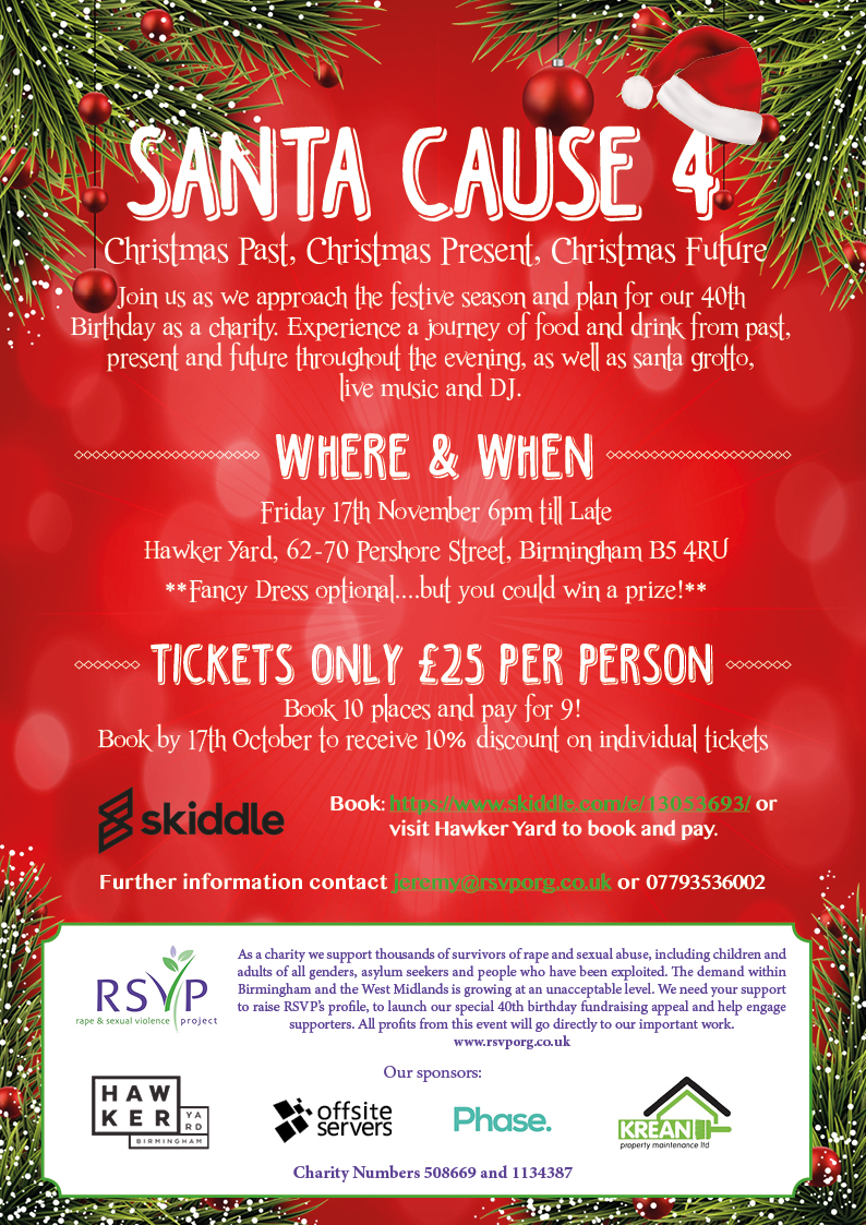 Christmas Fundraiser Flyer.Rape Sexual Violence Project Fundraising Events